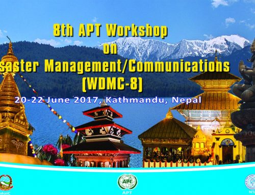 The 8th APT Workshop on Disaster Management/Communications (WDMC-8)